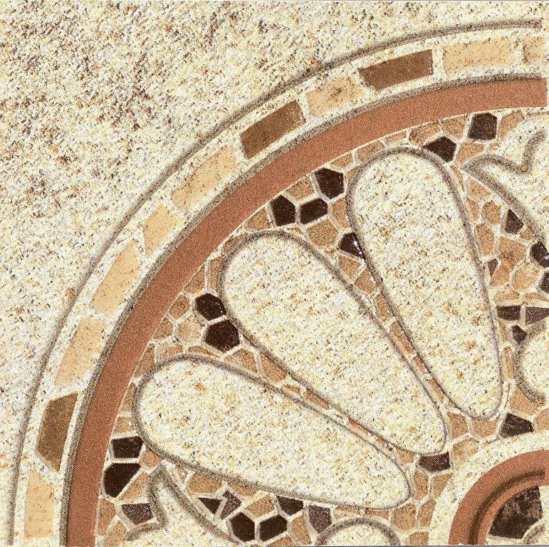 Бордюр угловой напольный Тенерифе 3613-0001 14×14 серое Ласселсбергер