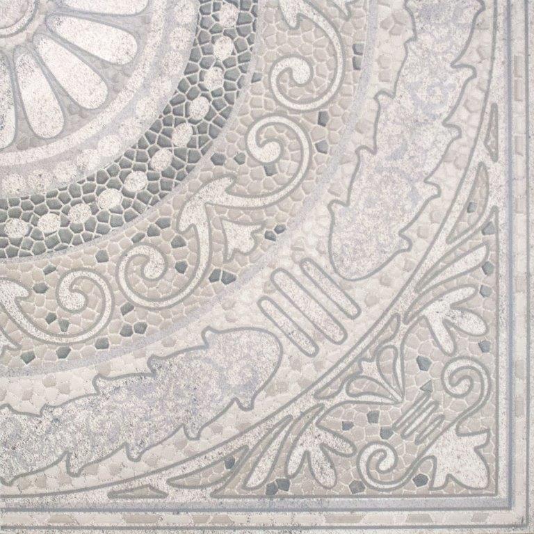 Панно напольное Тенерифе 3609-0005 90×90 серебряное Ласселсбергер