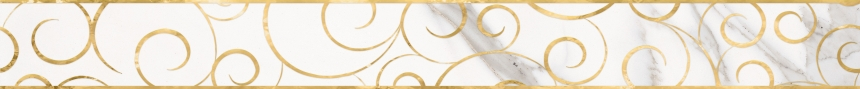 Миланезе Дизайн бордюр 1506-0154 Флорал каррара 6x60 0.9