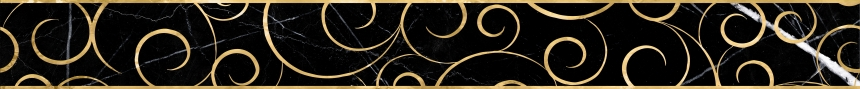 Миланезе Дизайн бордюр 1506-0160 Флорал Неро 6x60 0.9
