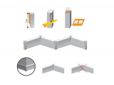Соединительный элемент для плинтуса МДФ под покраску схема установки