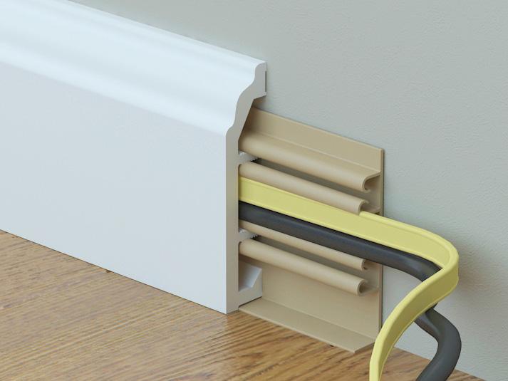 кабель-канал плинтуса вспененого Rico Color