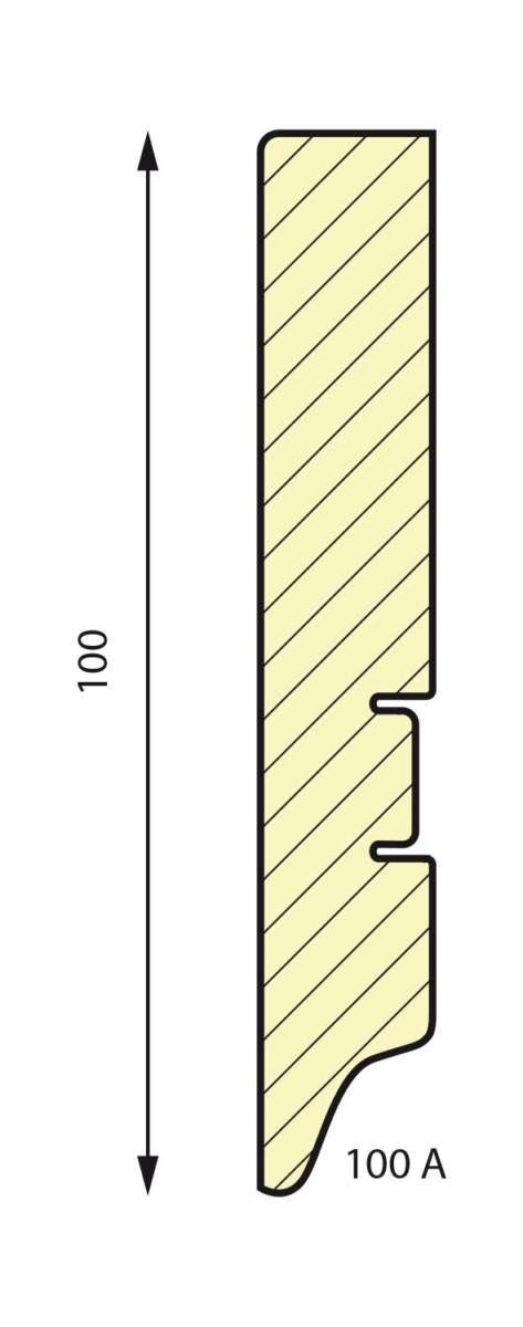 плинтус СП 100A МДФ под покраску