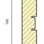 плинтус СП 100B МДФ под покраску