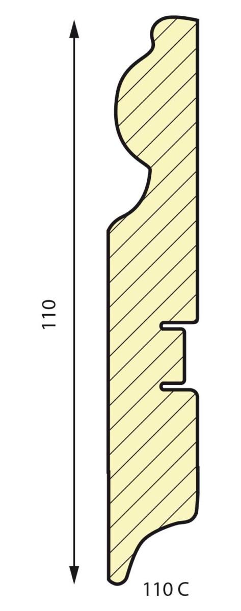 плинтус СП 110C МДФ под покраску