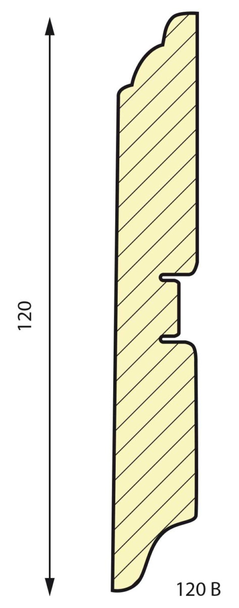 плинтус СП 120 B МДФ под покраску