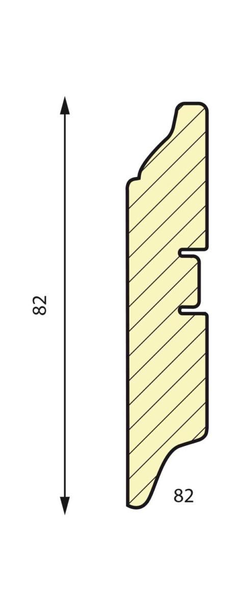 плинтус СП 82 МДФ под покраску